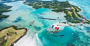 Mauritius Helicopter Golf Flight