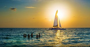 Private Catamaran Sunset Cruise with Dinner - Black River