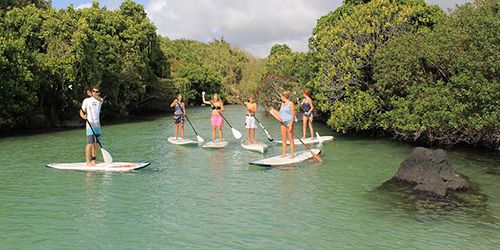 Visite du Parc Marin de Blue Bay + SUP (Stand Up Paddle)