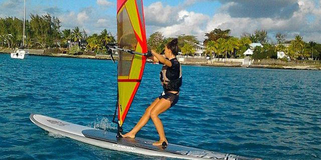 Windsurfing beginners lesson at mont choisy (1)