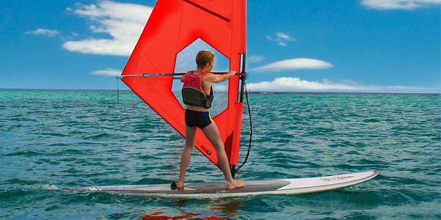 Windsurfing beginners lesson at mont choisy (5)