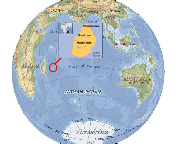 Super Carte de localisation de l'île Maurice - Vacances Maurice VH37