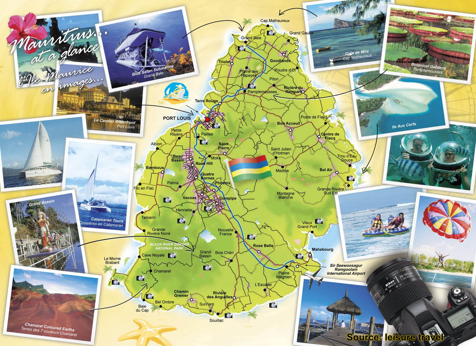 Carte Des Activits Et Excursions Disponibles Maurice
