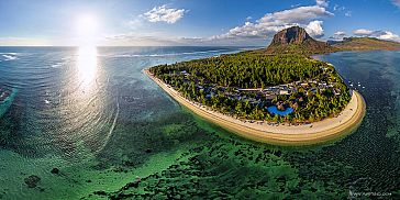 Underwater Waterfall Helicopter Tour in Mauritius