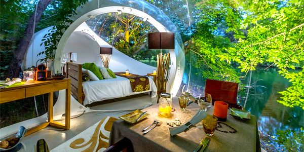 Bubble lodge bois ch ri ile maurice vacances maurice for Hotels design en france