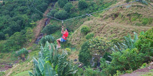 Zip line excursions at vallee des couleurs (3)