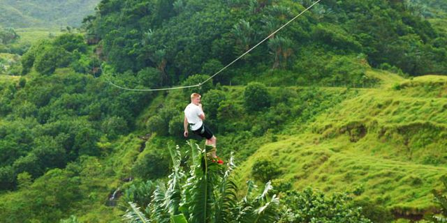 Zip line excursions at vallee des couleurs (4)