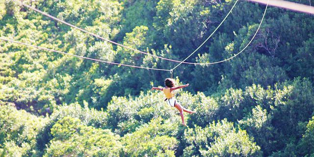 Zip line excursions at vallee des couleurs (9)